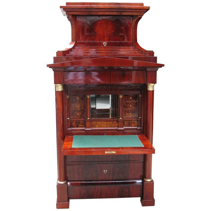 Magnificent Biedermeier fall front secretaire