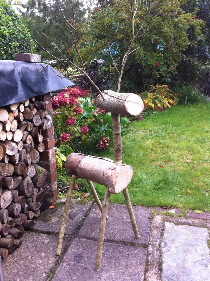 Todays project a 4ft log reindeer, make some smaller ones next week