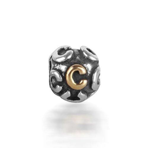 Bling Jewelry 925 Sterling Silver Letter C Alphabet Bead Screw Core Fits Pandora