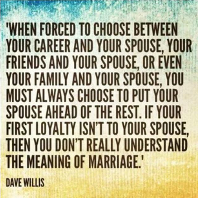 Put your spouse first