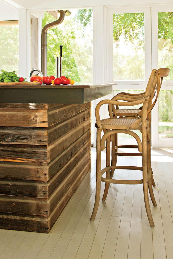 Salvaged Timber Island - Before and After: Farmhouse Remodel - Southern Living