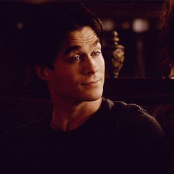 Ian Somerhalder as Damon Salvatore in The Vampire Diaries. Quote gif