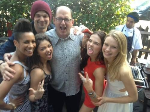 Vampire Academy: Blood Sisters cast with the amazing Daniel Waters.