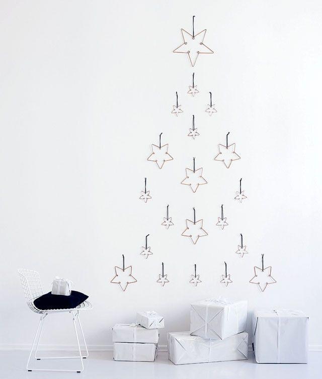 Un sapin minimaliste étoilé pour Noël...