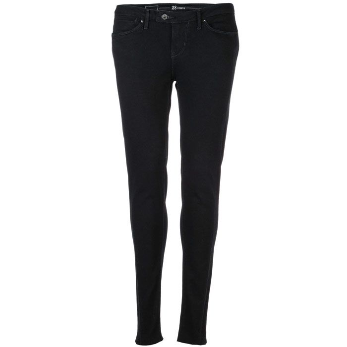 Levis Womens Tinted Rinse Tab Leggings in Black