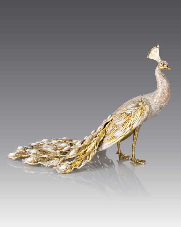 Jay Strongwater Limited Edition Grand Peacock Figurine