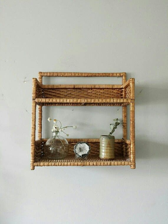 Wicker Shelf, Wicker Shelves For Bathroom