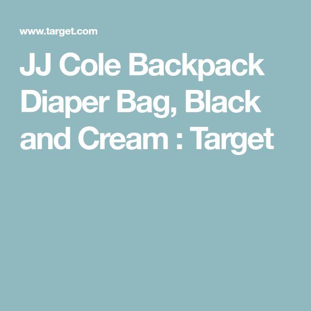 JJ Cole Backpack Diaper Bag, Black and Cream : Target