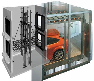 Car Lifts are  a significant  part of high rise car parking. Description from eastindiaelevators.com. I searched for this on bing.com/images