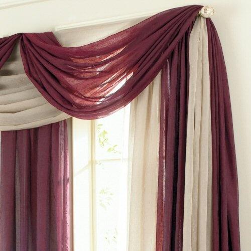 Window Scarf On Pinterest Scarf Valance Swag Curtains