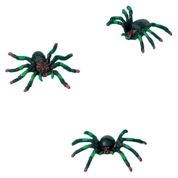 Plastik Edderkop - Single. Læg en edderkop i slikposen, i vindueskarmen eller under dynen til Halloween! En klassisk spøg