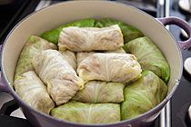 Pork-stuffed cabbage rolls: wanna try this with the new dutch oven.