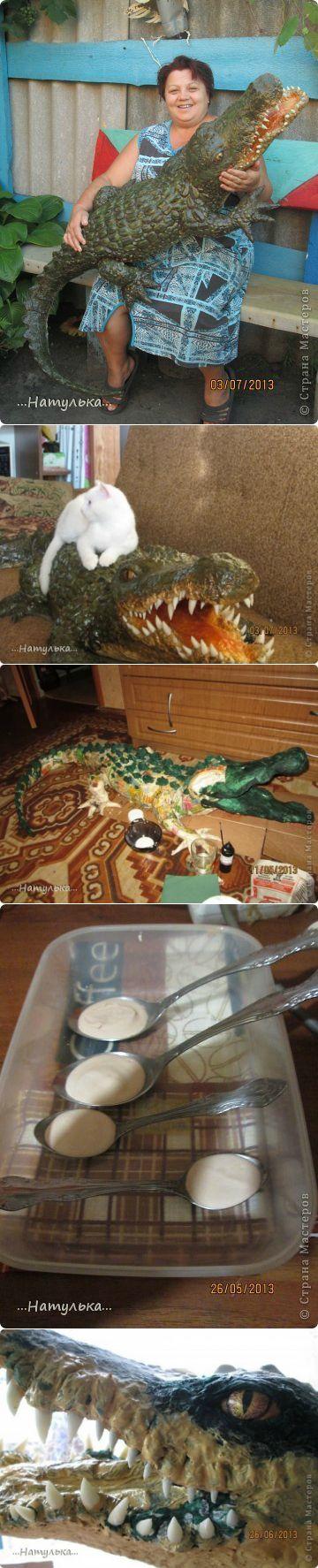 Садовый крокодил своими руками. Мастер-класс |