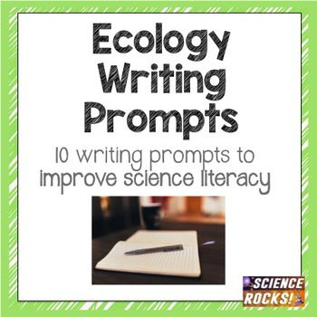 Want to improve your students' science literacy? Included are 10 ecology writing prompts on the following topics: 1. Scientific Method- Invasive Species 2. Food Webs 3. Population Growth 4. Dendrochronology 5. Bee Extinction 6. Animal Skull Inferences 7.