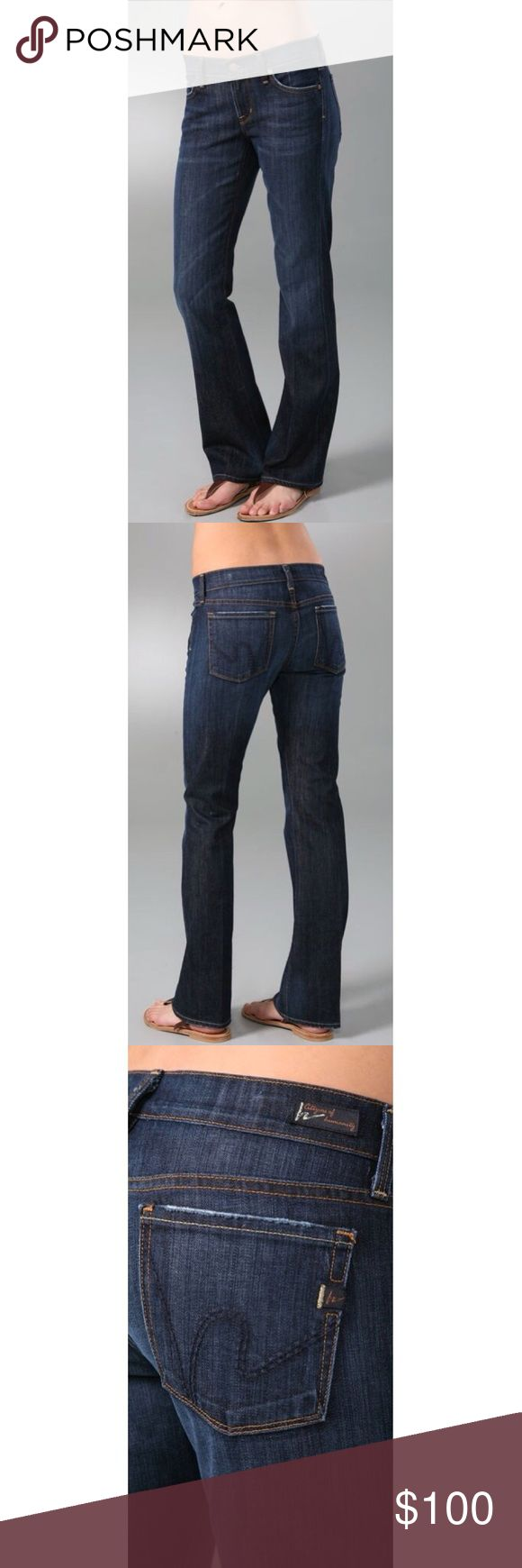 """💸BF SALE💸 Citizens of Humanity - The Dita These petite boot-cut jeans feature 5-pocket styling and a single-button closure. Tonal 'h' stitching at back pockets and whiskering at front. Worn spots at edges and mild distressing.  * 8"""" rise. 32"""" inseam. * 98% cotton/2% elastane. * Wash cold. * Made in the U.S.A. Citizens Of Humanity Jeans Boot Cut"""