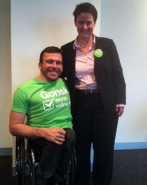World champion wheelchair athlete Kurt Fearnley Gives a Gonski.  #auspol #ausvotes #gonski #betterschools