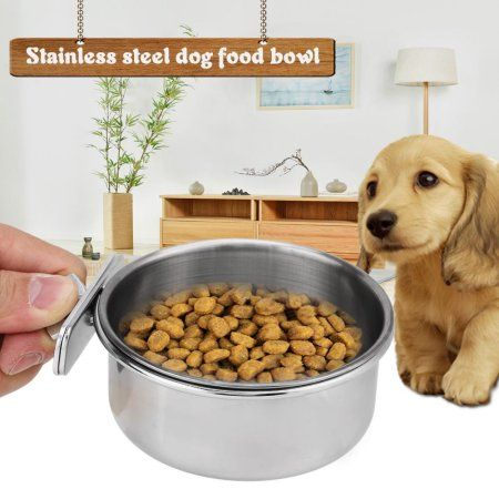 Stainless Steel Food Water Bowl For Coop Dog Cat Parrot Rabbit