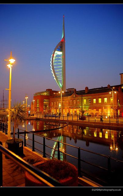 Spinnaker Tower and Gun Wharf, Portsmouth, England