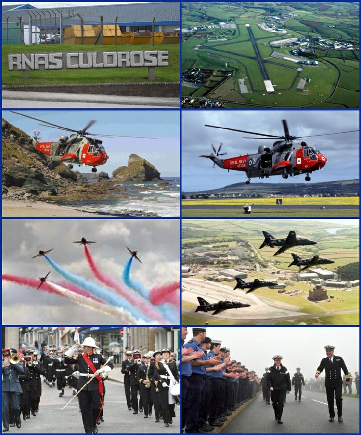 Royal Naval Air Station Culdrose (RNAS Culdrose, also known as HMS Seahawk; ICAO: EGDR) is a Royal Navy airbase near Helston on the Lizard Peninsula of Cornwall. It currently has three major roles: serving the Fleet Air Arm's front line Sea King and Merlin helicopter squadrons; providing search and rescue for the South West region; and training divers for the Royal Navy.
