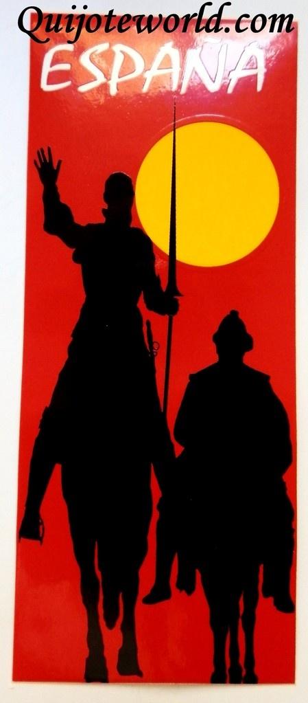 #Pegatina y adhesivo Don #Quijote de la Mancha - Quijoteworld, ideas para decorar