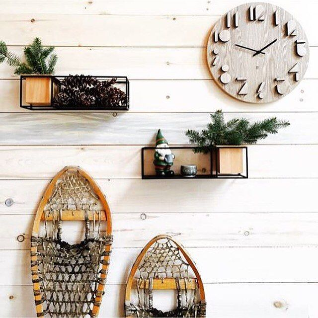 rustic holiday decor created by judith mackin umbra cubist shelves