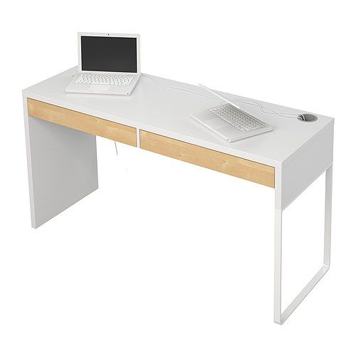 micke bureau blanc modern desk 142 and front rooms