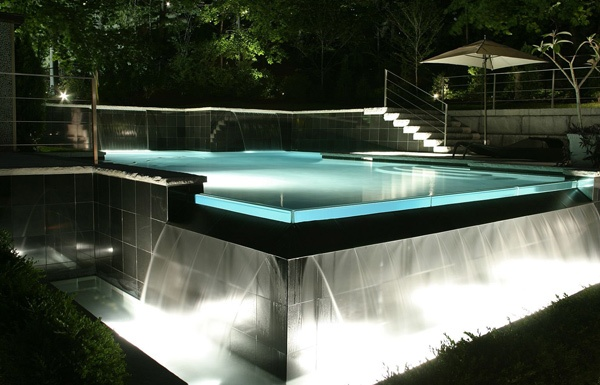 Nothing short of spectacular, this zero-edged pool with ...