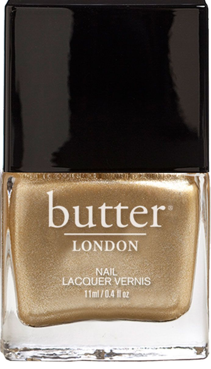 Metallic Gold Nail Polish – The Full Monty : butter LONDON. Might have to try it. It screams beach and sand!!