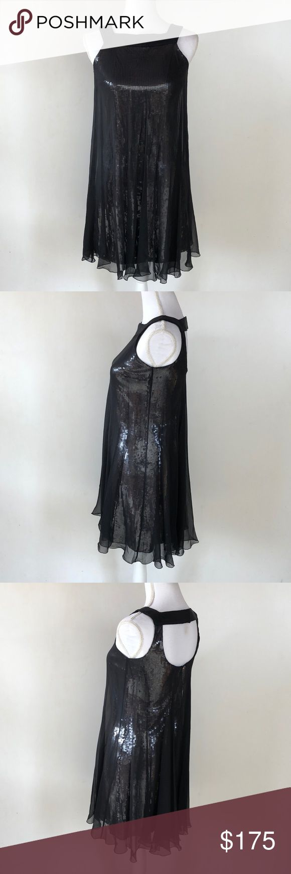 Elie Tahari 100% Silk & Sequin Cocktail Dress, 0 This insanely gorgeous Elie Tahari 100% Silk & Sequin Cocktail Dress, 0 is the PERFECT holiday party dress!! This has NEW YEARS EVE written allllll over it 😍 EXCELLENT CONDITION, NO DEFECTS Elie Tahari Dresses Midi