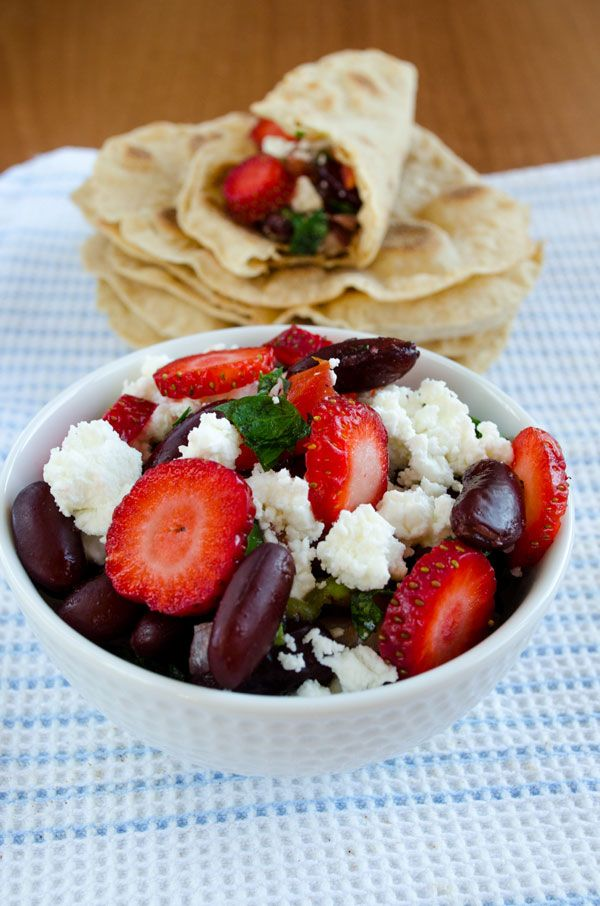 [Turkey] Red bean salad with strawberries and feta   giverecipe.com   #beans #strawberries #feta