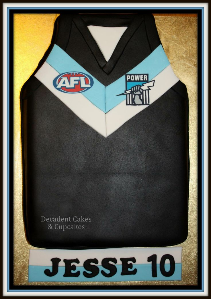 <3 AFL Port Power Guernsey <3 Made By Decadent Cakes & Cupcakes