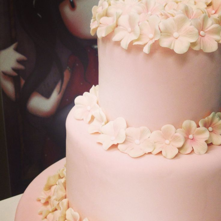Vanilla cake .