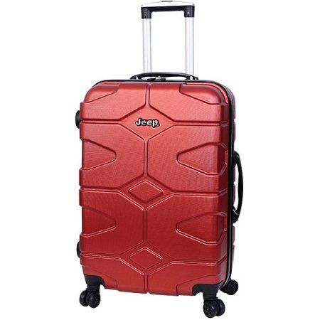 c7e03690a84 Jeep 28 inch Hardside Spinner Suitcase, Red | Products | Spinner ...