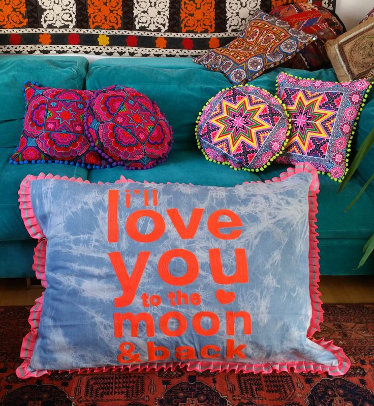 Huge Affirmation Pillow, I'll love you to the Moon and Back by KavanaEmporium on Etsy
