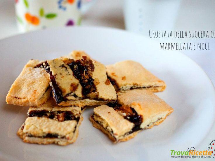 Crostata della suocera con marmellata e noci  #ricette #food #recipes
