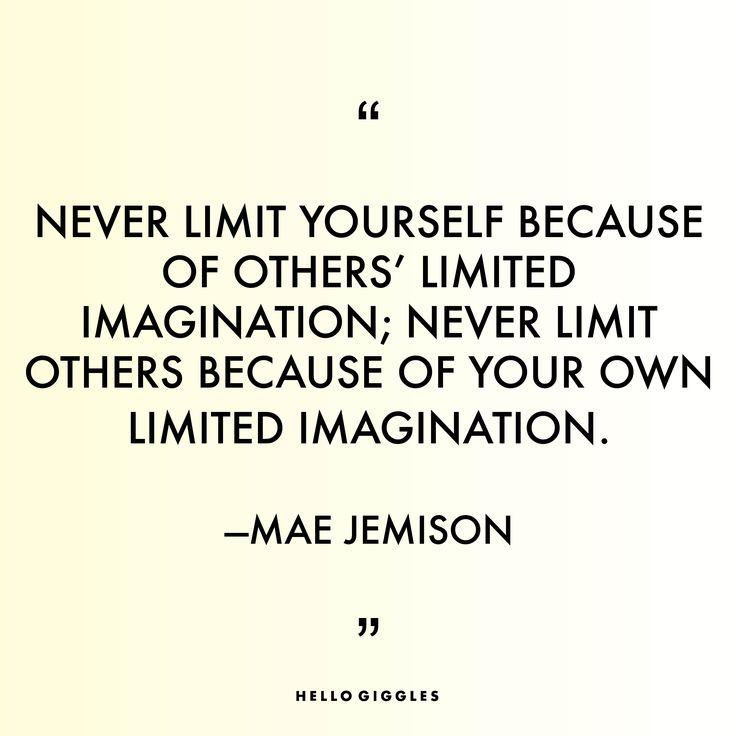 Mae Jemison has a point.
