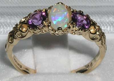 Opal and Amethyst Ring #opalsaustralia