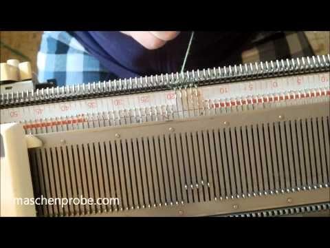 Socken auf der Strickmaschine: Die Spitze - YouTube