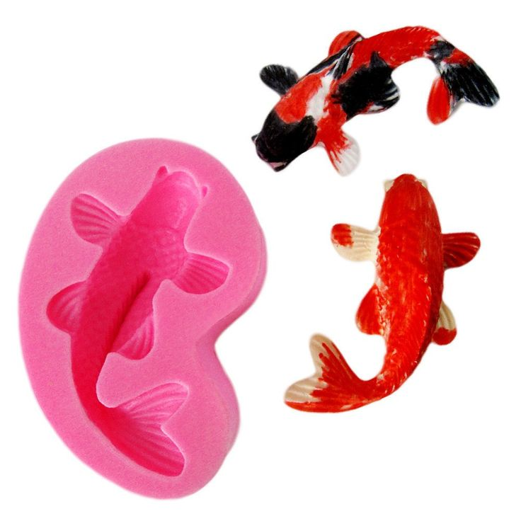 1 x Koi Fish Silicone Mold Mold Size: 4.6 cm x 7.3 cm (W X L) Finished Fondant Size: 3.5 cm x 5.8 cm (W X L) Material: Silicone Temperature: -40° ~ +230° ★ Easy to clean ★ Food Safe, FDA Approved ★ Ca