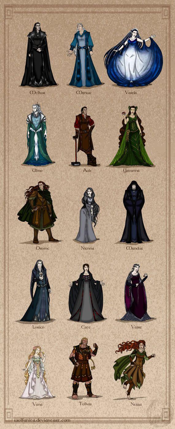 The Silmarillion: The Valar (Complete) by wolfanita