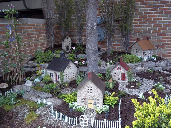 I Really Like The Setup And Use Of Space Next To House | Fairy Garden |  Pinterest | Fairy, Gardens And Fairy Village