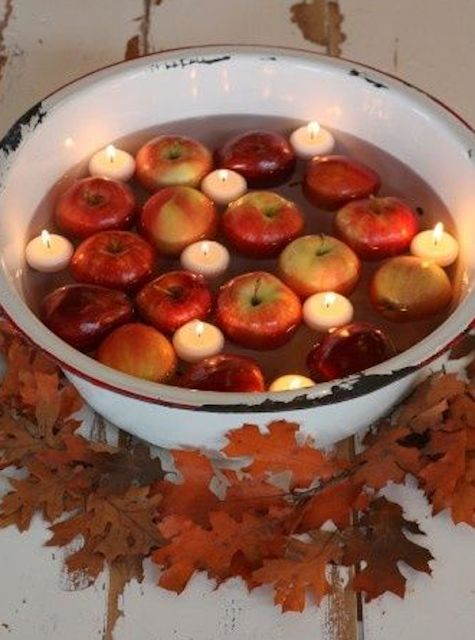 Very pretty! But at first glance this looks like a very dangerous game of bobbing for apples! :)