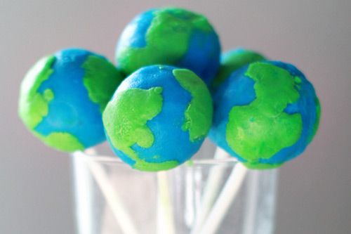 how to make an earth cake