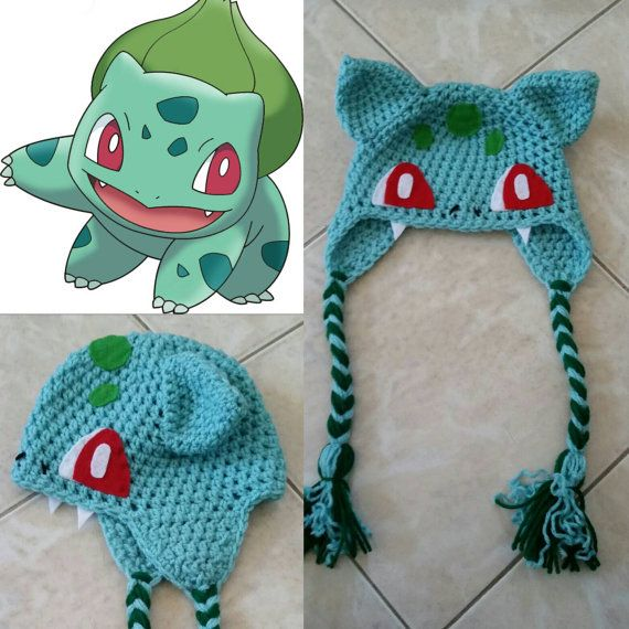 Crochet Bulbasaur Beanie/Hat by Potterfreakg on Etsy