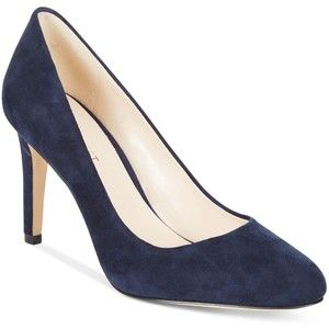 For the Alexander McQueen Navy Blue Suede Pumps