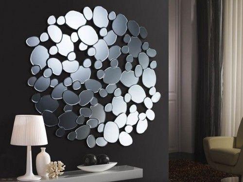 Moderne speil i glass: Modell PETRA Rund