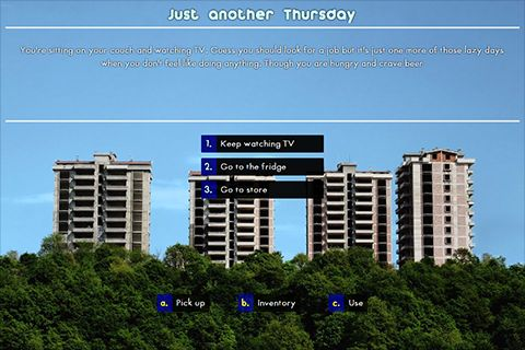 Play Text Adventure Games, Create and Share your own Interactive Fiction. SATU Text Games is a community of Interactive Fiction Game makers and Players bringing the Text Adventures Games back to 21st century.