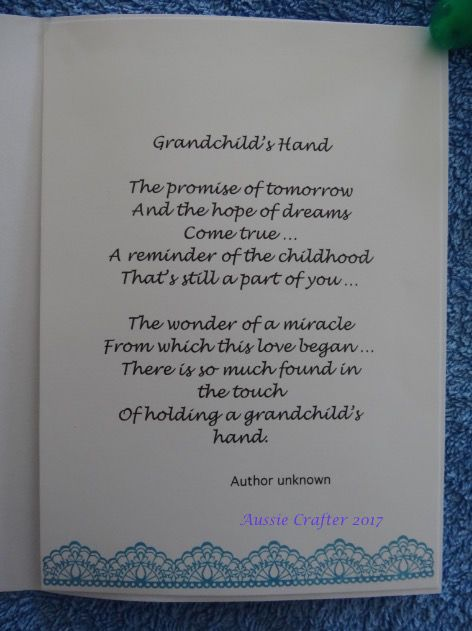 Card for Darcy's Grandparents (inside) 7/17