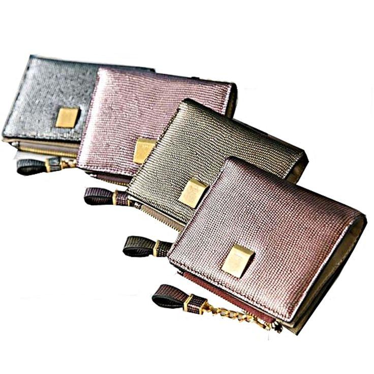 Womens Medium Purse Woman Wallet Zipper Coin Card Bill Cowhide Leather 3213B