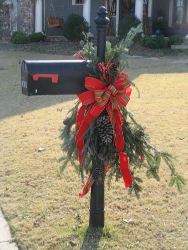 classic Christmas mailbox decoration photo